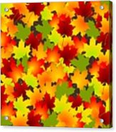 Fall Leaves Quilt Acrylic Print
