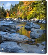 Fall Morning At Swift River Acrylic Print