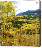 Fall Mountain Scenery Acrylic Print