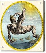 Fall Of Icarus, Greek Mythology Acrylic Print
