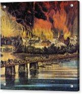 Fall Of Richmond, 1865 Acrylic Print