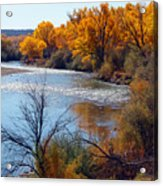 Fall On Animas River Acrylic Print