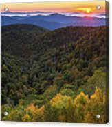 Fall On The Blue Ridge Parkway. Acrylic Print by Itai Minovitz