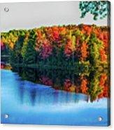 Fall On The Lake In Wisconsin Acrylic Print