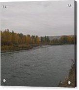 Fall Rains Down On The River Acrylic Print