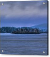 Fall Rainstorm Over Lake Wausau Acrylic Print