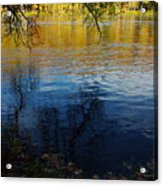 Fall Reflection At The River 2 Acrylic Print