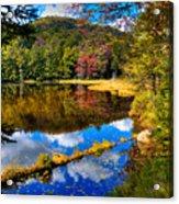Fall Reflections On Cary Lake Acrylic Print