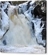 Fall River With Icicles Acrylic Print