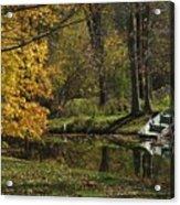 Fall Rowboat Acrylic Print
