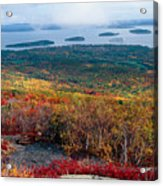 Fall Scenic View Of Bar Harbor Acrylic Print