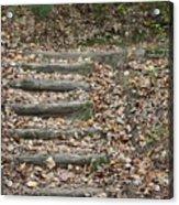 Fall Stairs Acrylic Print