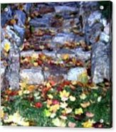 Fall Stairway Acrylic Print