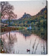 Fall Sugarloaf With Duck Painting Acrylic Print