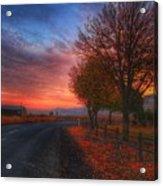 Fall Sunrise Acrylic Print