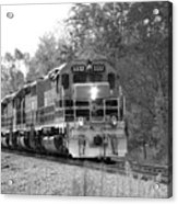 Fall Train In Black And White Acrylic Print