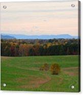 Fall View Of The Blue Ridge Mountains Acrylic Print