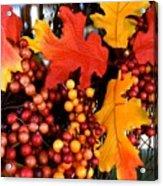 Fall Wreath Acrylic Print