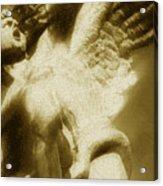Fallen Angel Vertical Gold Acrylic Print