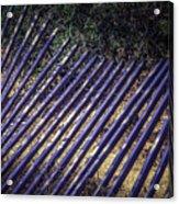 Fallen Fence Acrylic Print