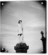 Fallen Fireman's Memorial In Calvary Cemetery In New York City Acrylic Print