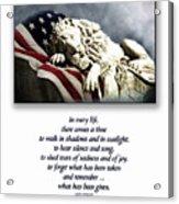 Fallen Patriot Acrylic Print