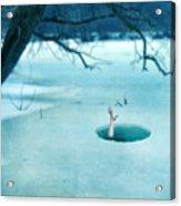 Fallen Through The Ice Acrylic Print