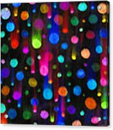 Falling Balls Of Color Acrylic Print