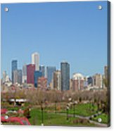 Falling For Chicago Acrylic Print
