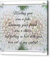 Falling In Love 3 Acrylic Print
