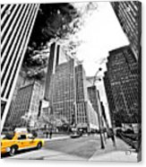 Falling Lines - Rockefeller Center Acrylic Print by Thomas Splietker