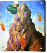 Falling Off the Mountain Acrylic Print