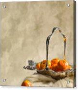 Falling Oranges Acrylic Print