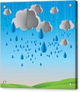 Falling Rain Acrylic Print