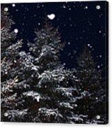 Falling Snow Acrylic Print