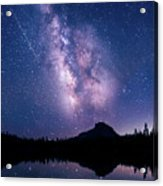 Falling Star Over The Sierras Acrylic Print