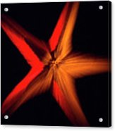 Falling Starfish One Acrylic Print