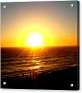 Falling Sun Acrylic Print