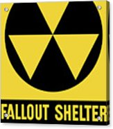 Fallout Shelter Sign Acrylic Print