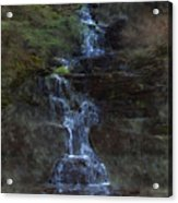 Falls At 6 Mile Creek Ithaca N.y. Acrylic Print
