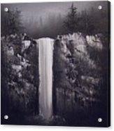 Falls By Moonlight Acrylic Print by Crispin  Delgado