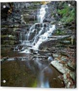 Falls Creek Gorge Trail Reflection Acrylic Print