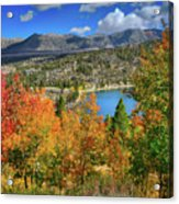 Fall's Finery At Rock Creek Lake Acrylic Print