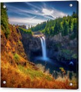 Falls From Up High Acrylic Print