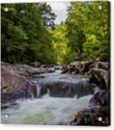 Falls In The Mountains Acrylic Print