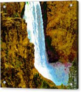 Falls Of The Yellowstone Acrylic Print