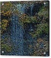 Falls Woodcut Acrylic Print