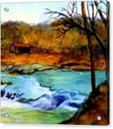 Fallsburg Ky Falls Acrylic Print
