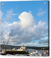 Falmouth Docks Cornwall Acrylic Print