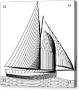 Falmouth Oyster Boat Acrylic Print